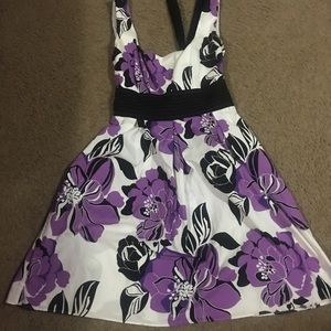 Other - Purple, white, and black summer or Sunday dress